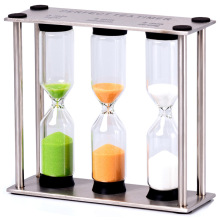 2015 new creative hourglass timer stainless steel fine living ornaments glass birthday gifts