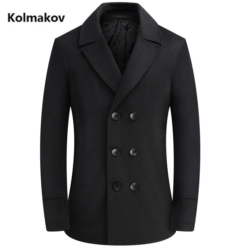 2020 new arrival coat men high quality double breasted wool trench coat men,men's casual wool jackets plus-size M-4XL