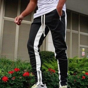 Мужские штаны для бега, шаровары, мужские Модные уличные спортивные штаны, осень 2019, обтягивающие штаны в стиле хип-хоп, уличные штаны для бе...
