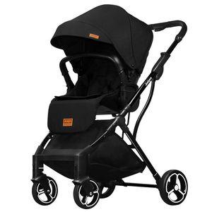 Image 3 - 2019 novo confortável de duas vias cor pura carrinho de bebê simples pára sol dobrável carrinho de bebê