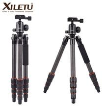 XILETU XLS225C Professional Photography Travel Tripod Carbon Fiber Tripod Monopod for DSLR Camera w 360 Degree Panorama Ballhead