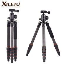 Xiletu XLS225C Professionele Fotografie Statief Carbon Statief Monopod Voor Dslr Camera W 360 Graden Panorama Balhoofd