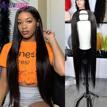 WowQueen – perruque brésilienne naturelle lisse, 30 pouces, 32 pouces, pour femmes africaines