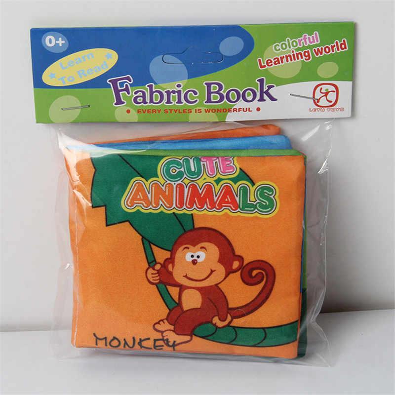 8 páginas do bebê brinquedo infantil sun pano livro brinquedos forma animal número boneca brinquedo para 0-3y primeiros livros de desenvolvimento crianças presentes
