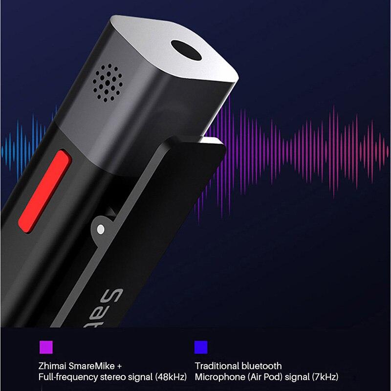 SABINETEK SmartMike + sans fil Bluetooth Vlog micro Radio en temps réel micro pour iPhone Huawei Smartphone caméra d'ordinateur vlogeur - 3