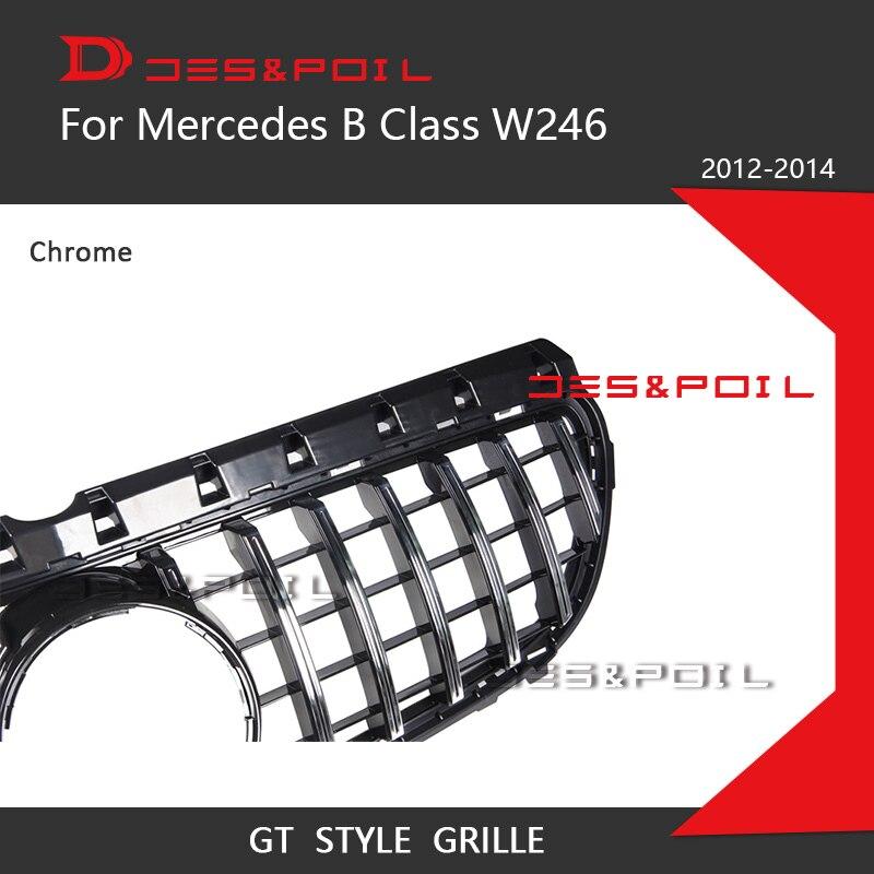 XBXDM Griglia da Corsa per Paraurti Anteriore con Griglia Diamantata per Mercedes Benz Classe B W246 B180 B200 B250 B220 2015-2018 Argento Nero Nero
