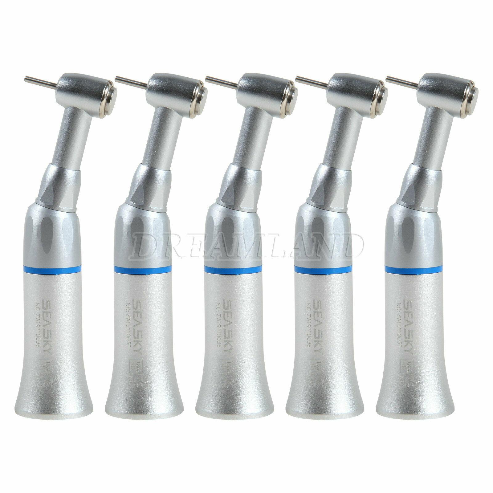 5PCS Dental Contra Angle Low Speed Handpiece Push E-type Fit FG Burs 1.6mm