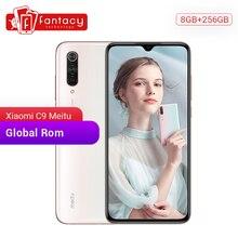 """글로벌 rom xiao mi mi cc9 meitu 사용자 정의 버전 cc 9 8 gb 256 gb 휴대 전화 금어초 710 48mp 트리플 카메라 6.39 """"amoled screen"""