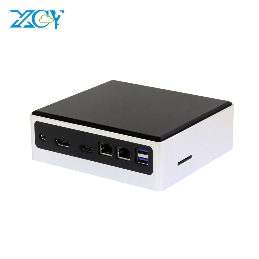 Mini PC Intel Core I5 8250U I7 7500U Computer Windows10 2*DDR4 M.2 SSD 8*USB HDMI DP Type-C 2*LAN WiFi 4K HTPC Micro Desktop NUC