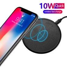 Rovtop 10W Wireless Charging Round for iPhone X Xs MAX XR 8 plus Fast Wireless Charging Pad for Samsung S20 Xiaomi mi 9