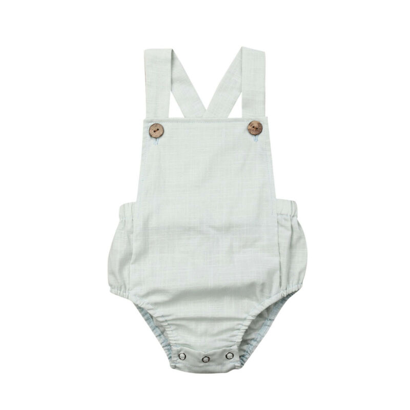 11 Colors Baby Romper Newborn Infant Boy Girl Sleeveless Tops Cross Bib Sunsuit Summer Baby's Clothes For 0 3Years