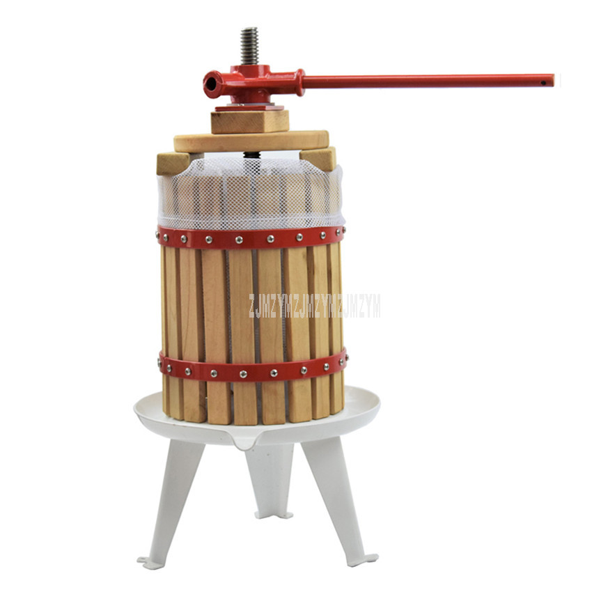 6L Manual Press Juice Machine Home Apple Pressing Juicer DIY Grape Wine Maker Juice Residue Separation For Honey/Fruit/Vegetable