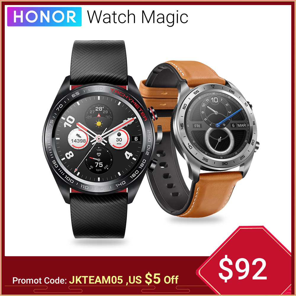 Huawei Honor Watch Magic Smart Watch GPS 5ATM WaterProof Heart Rate Tracker Sleep Tracker Working 7 Days Message Reminder-in Smart Watches from Consumer Electronics on AliExpress