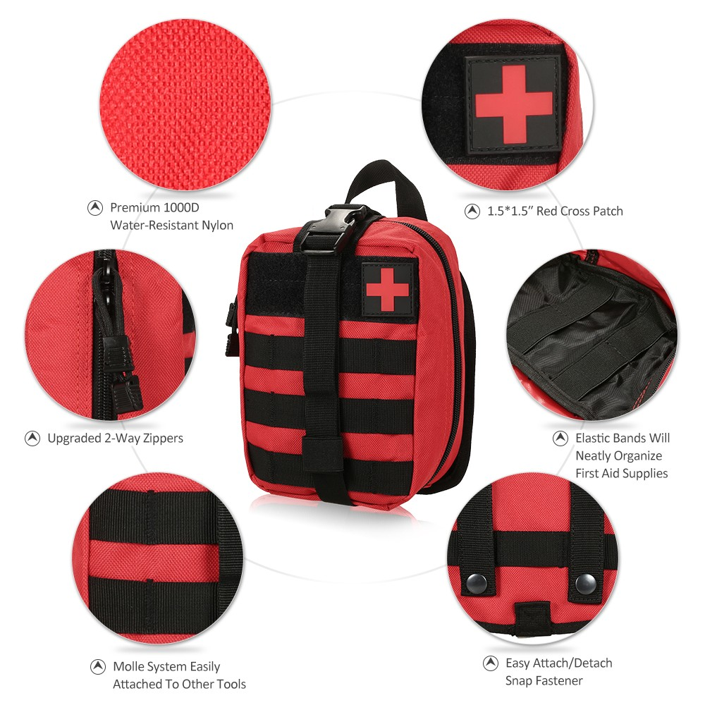 Image 2 - Outdoor MOLLE Medical Pouch First Aid Kit Utility Bag Emergency  Survival First Responder Medic BagEmergency Kits