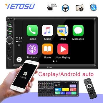 "Auto radio 2 din Car Radio 7"" HD Autoradio Multimedia Player 2DIN Touch Screen Auto audio Car Stereo MP5 Bluetooth Carplay 7013B"