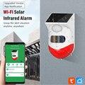 Tuya Outdoor Solar Infrared Detector Sensor WiFi Smart Security Alarm Anti-Theft Alarm for Country House