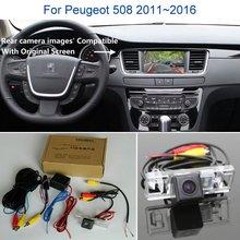 Камера заднего вида для peugeot 508 2011~-Резервное копирование камера заднего вида Комплекты RCA и экран совместимы