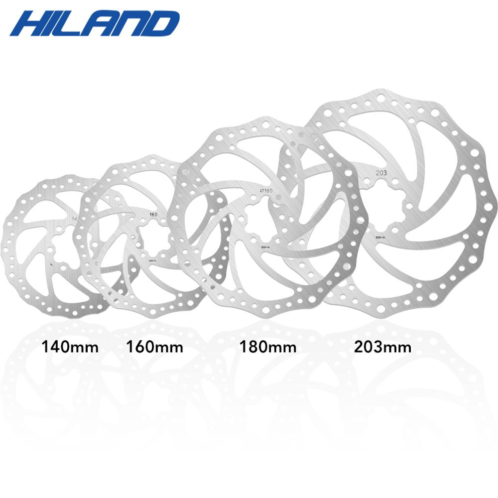 Permalink to Hiland 203mm/180mm/160mm/140mm 6 Inches Stainless Steel Rotor Disc Brake For MTB Mountain Road Cruiser Bike Bicycle parts