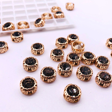 DIY Supplies and fabrics Set gems Golden Nest Claw Base glass Garment Beads Clothing beads handmade party dress with beading de