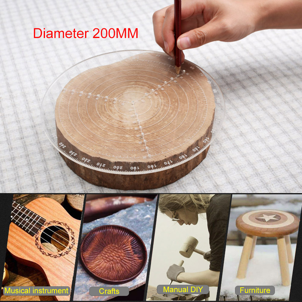 Center Finder Tool Woodworking Compass For Woodturners Bowls Lathe Work Clear Acrylic Drawing Circles Diameter  200/300MM