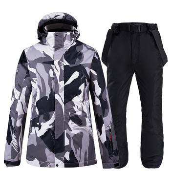 Narciarstwo kurtki i spodnie mężczyzn kombinezon narciarski snowboard zestawy bardzo ciepłe nieprzewiewne wodoodporna śnieg na świeżym powietrzu na świeżym powietrzu ubrania tanie i dobre opinie ARCTIC QUEEN Suknem