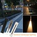 3W внутренняя светодиодная лампочка для подножки в алюминиевой оправе лестница угловая лампа Водонепроницаемая настенная лестница лампа д...