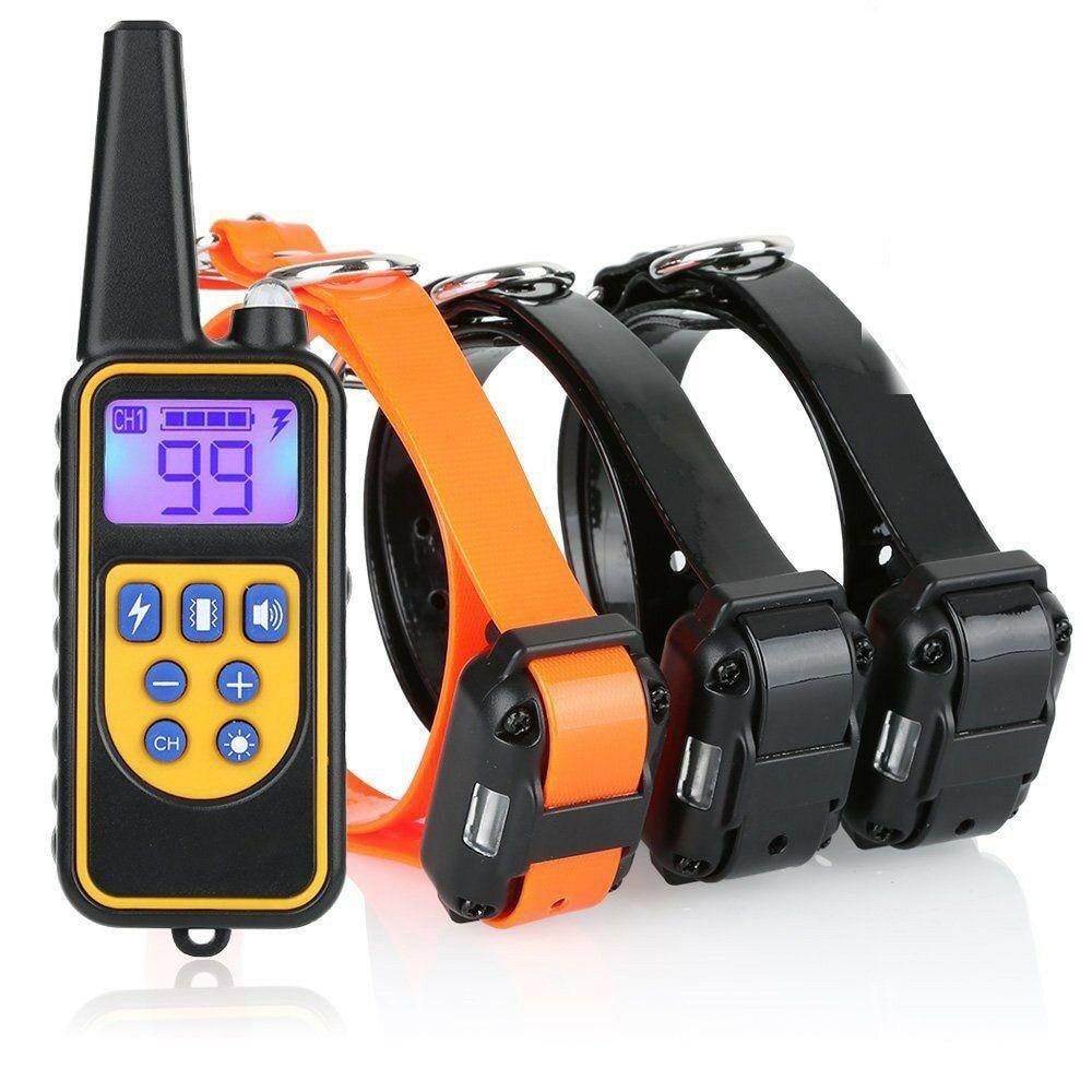 Ошейник для дрессировки домашних питомцев, 800 м, электрошоковый ошейник для собак, IP7 водонепроницаемый ошейник для дайвинга с дистанционны...