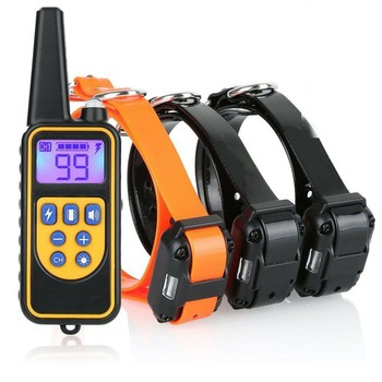 800M Pet Dog Training Collar Eectric Shock For Dogs IP7 Diving Waterproof Remote Control Device Charging LCD Display - discount item  40% OFF Pet Products