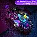 Беспроводной игровой Мышь компьютер Мышь геймер бесшумный ПК sem FIO Перезаряжаемые эргономичный Мышь 2,4 ГГц USB оптическая мышь для портативны...