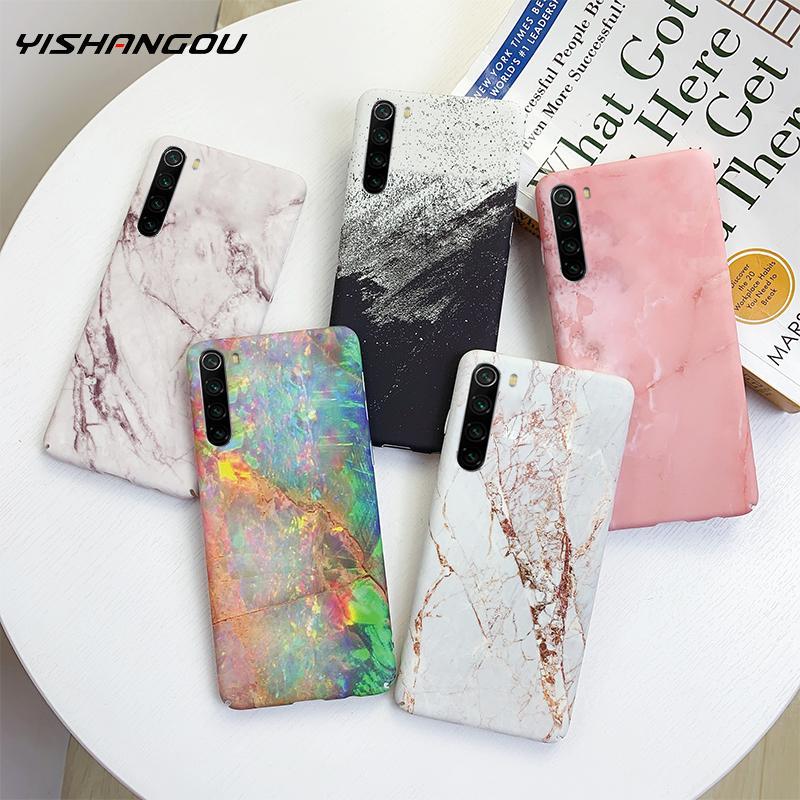 Marble Case For Xiaomi Redmi Note 8 Pro 7 Case Ultra Thin Crack Granite Pattern Hard PC Matte Cover Cases For Xiaomi Mi 9 8 Lite