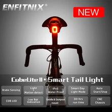 CUBELITE II Bike Light Smart Taillight Bicycle Light Usb Brake Induction Light Multiple Lighting Mode Bicycle Light Waterproof стоимость