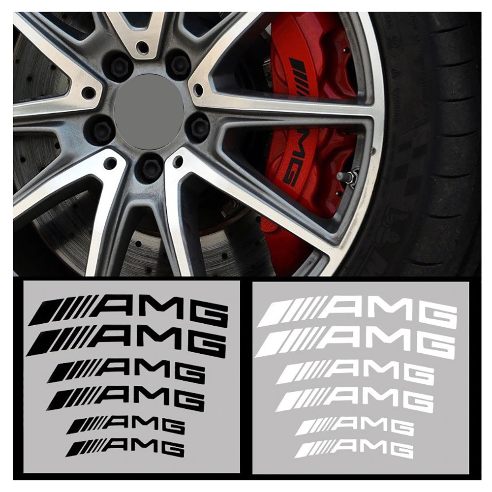 6 шт., наклейки на тормозной суппорт автомобиля для BMW M Mercedes Benz AMG W204 W203 W212 W124 W210 W211, автомобильные товары, аксессуары