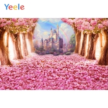 Yeele Wedding Photography Backdrops Flower Castle Tree Custom Children Birthday Party Photographic Background  For Photo Studio