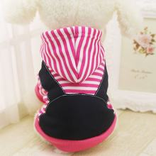 Autumn Winter Dog Clothes Striped Hooded Jacket Soft Fleece Lining Warm Coat Warm Pet Dog Clothes XS-7XL(China)