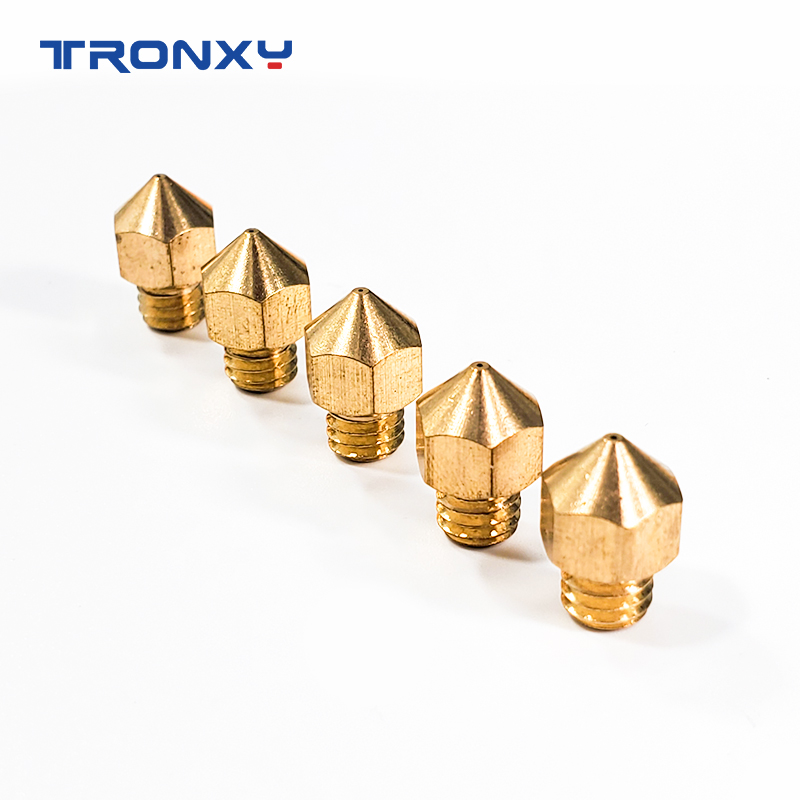 Tronxy 3D printer copper Nozzle with 3D PRINTER Extruder nozzle size 0 2mm 0 3mm 0 4mm