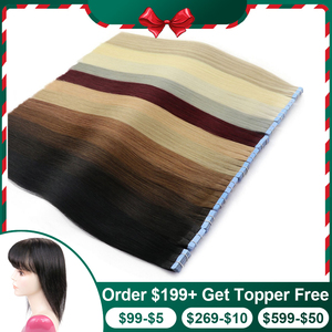 Isheeny Remy Human Hair Tape Extensions Straight 14