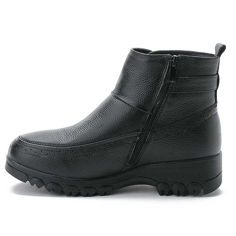 Xiuteng 2019 Kış Hakiki Deri Sıcak kar ayakkabıları Kadın Çizmeler orta buzağı Peluş Kürk Kadife Çizmeler Kadın Patik Kadın Ayakkabısı