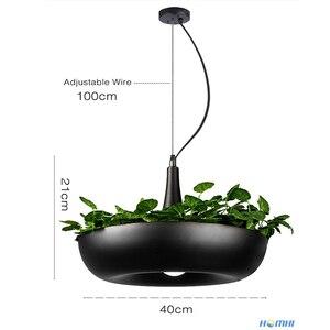 Image 5 - המדינה עציץ מנורת חדר אוכל בר דלפק קפה אור אמנות דקו איטלקי מעצב מנורת צמחי פרח עציץ נורדי תליון