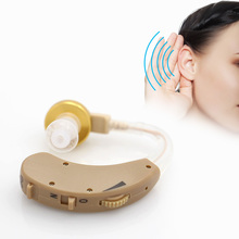 BTE Hearing Aid Mini Behind the Ear Best Sound Voice Amplifier Volume Adjustable Clear Hearing Aids for The Elderly Deaf Device