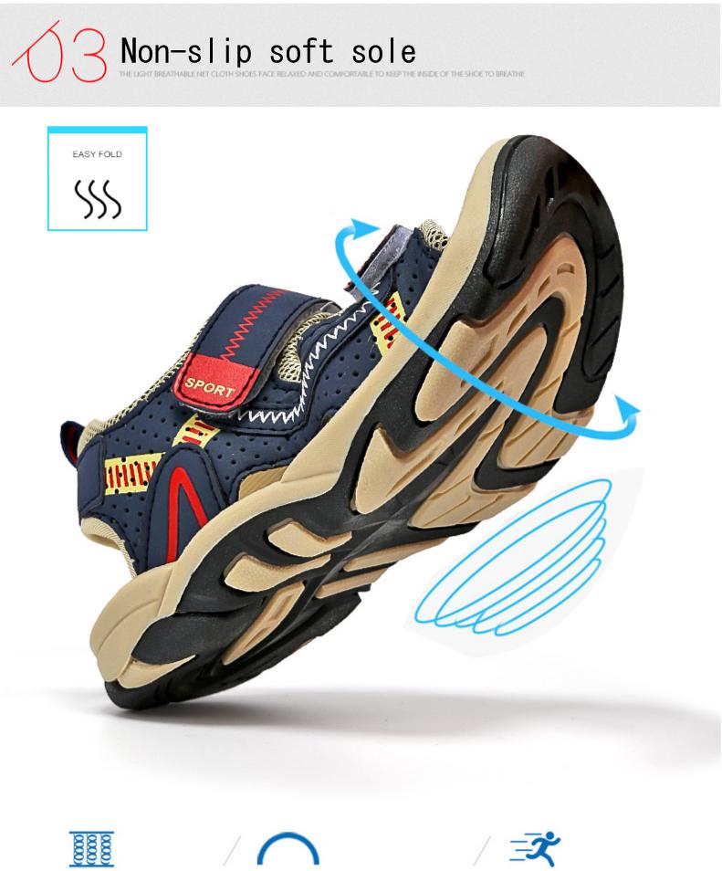 2020 Summer Boys Sandals Kid Sandals Children Shoes Cut-outs Rubber School Shoes Breathable Open Toe Casual Boy Sandal (5)