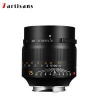 7artisans 75mm F1.25 lente retrato Leica M-de montaje para cámara Leica M-M M240 M3 M5 M6 M7 M8 M9 M9P M10 envío gratis
