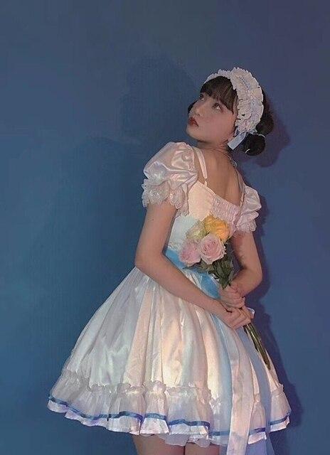 Купить готическое винтажное платье лолиты с квадратным воротником и картинки цена
