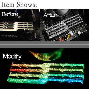 Memory RAM Light Guide Bar For G Skill Trident Z Neo RGB Change To Royal Series Band CPU Cold Head Dissipate Heat Water Tank