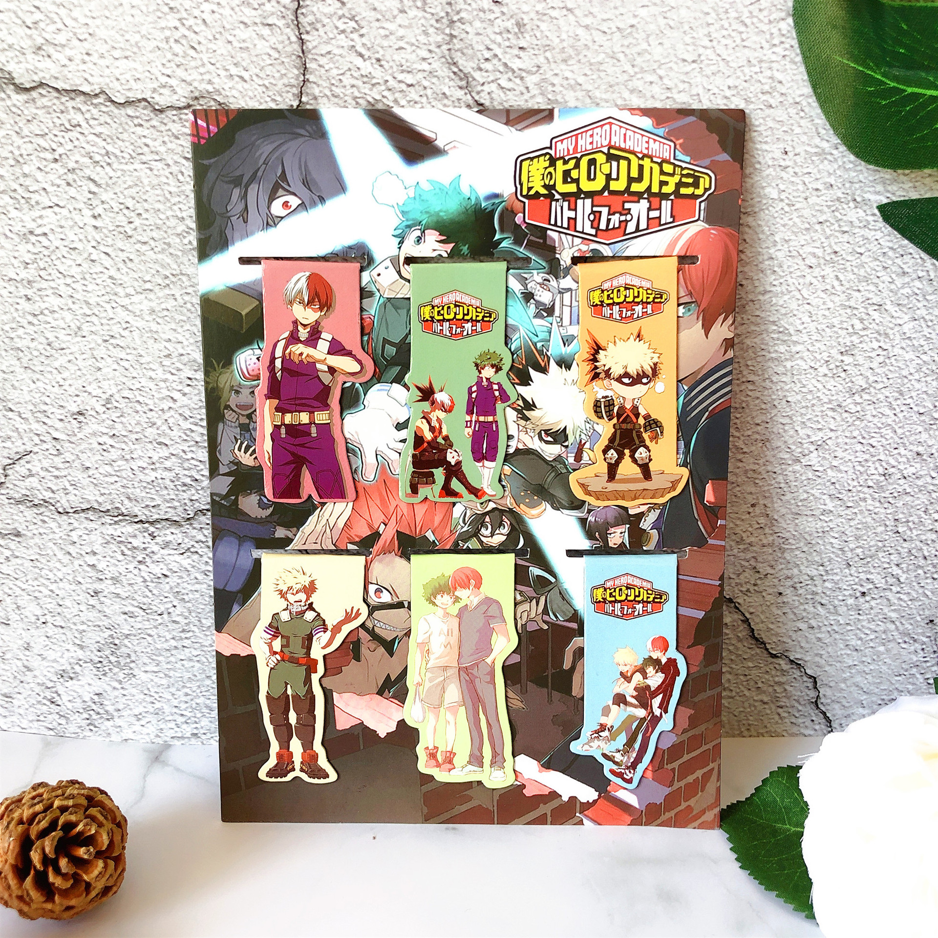 6pcs My Hero Academia Anime Magnetic Bookmark Cartoon Magnet Bookmark Child Student Kawaii Gift Bookmarks Office Stationery