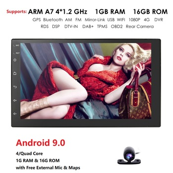 Android 9.0 2 din car radio 7 HD Player Touch Screen Digital Display Bluetooth Multimedia USB 2din Autoradio Car Backup Monitor image