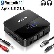Bluetooth 5.0 kablosuz AV alıcısı vericisi alıcı AptX HD LL düşük gecikme CSR8675 kablosuz adaptör RCA SPDIF 3.5mm Aux Jack TV PC araba