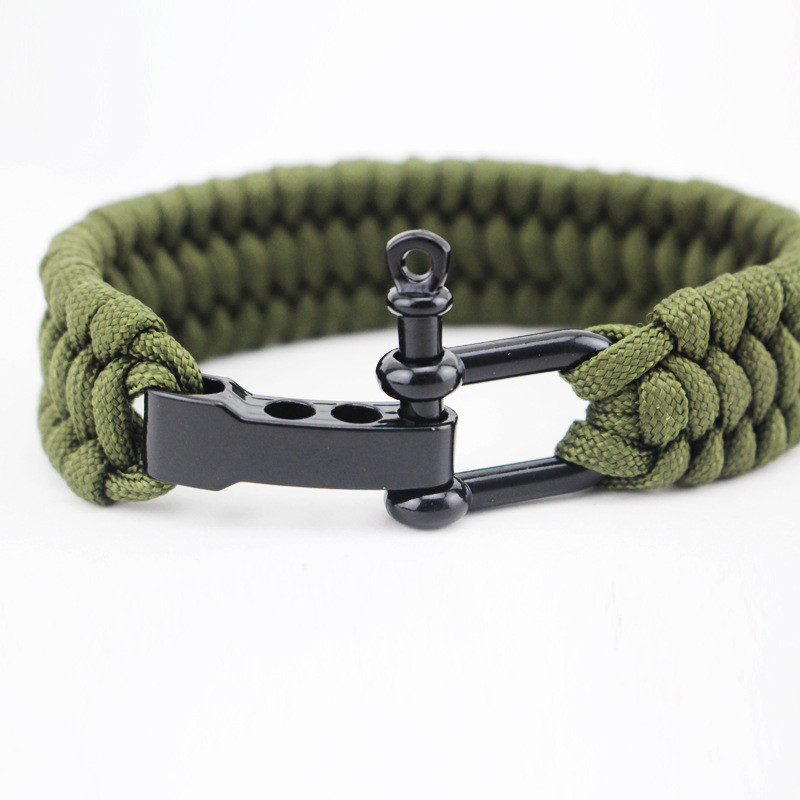 23CM Camping Hiking Emergency Tactical Survival Braided Rescue Umbrella Rope Outdoor Bracelets Parachute Cord Paracord