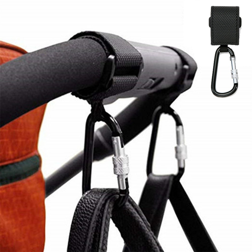 Carabiner Climb Clasp Clip Hook Hanger Baby Pushchair Stroller Clip Hook Buggy Pram Kids Diaper Bag Hanger Safe molle Carrier