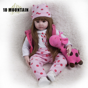 60CM High Quality Reborn Toddler Princess Girl Doll Silicone Vinyl Adorable Lifelike Baby Bonecas Girl Bebe Doll Reborn Menina(China)