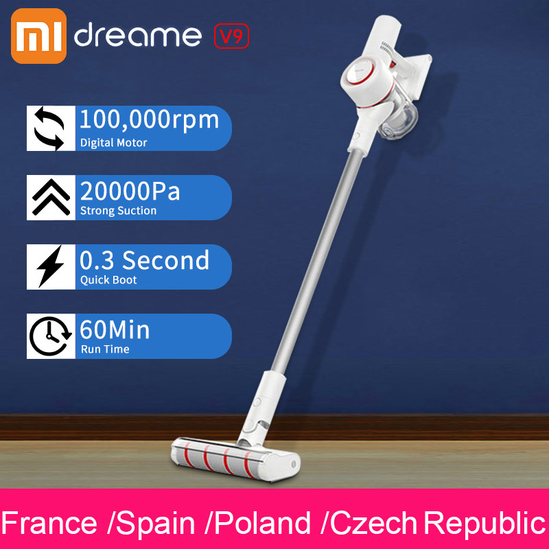 (send in 3 days )Xiaomi Dreame V9  Cordless Vacuum Cleaner Handheld Wireless cyclone Cordless Stick Cleaner for Home Car 20000Pa 스마트 벨 샤오 미